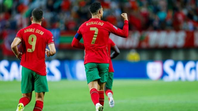 Cristiano Ronaldo saat Timnas Portugal kalahkan Luksemburg