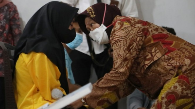 Mensos Tri Rismaharini melakukan kunjungan kerja ke Kabupaten Lombok Timur