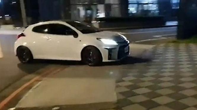 Toyota GR Yaris dipakai untuk aksi ilegal.
