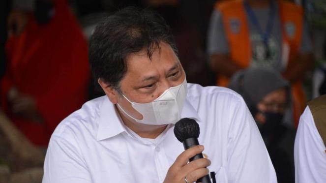 Menteri Koordinator Perekonomian sekaligus Ketum Golkar AIrlangga Hartarto