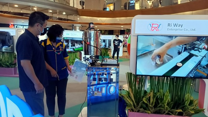Pameran teknologi mesin buatan Taiwan.