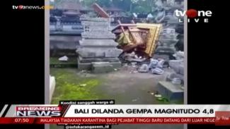 Bali diguncang gempa magnitudo 4,8.