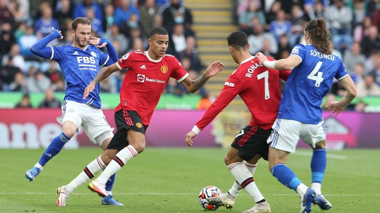 Pertandingan Leicester City melawan Manchester United