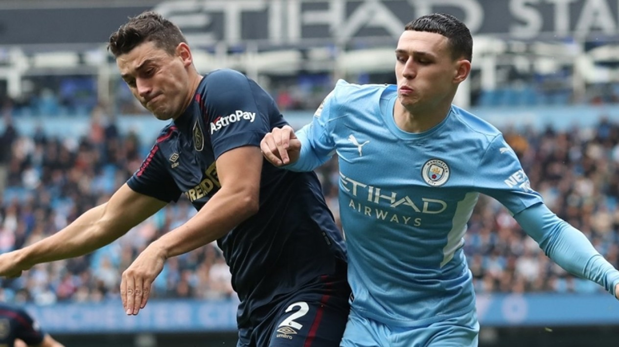 Pertandingan Manchester City melawan Burnley