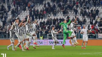 Juventus merayakan kemenangan