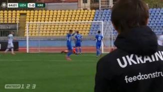 Pemain klub kasta kedua Ukraina diduga melakukan selebrasi saat timnya kebobolan