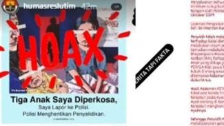 Berita media massa diberi stempel hoax