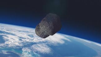 Asteroid menuju Bumi.