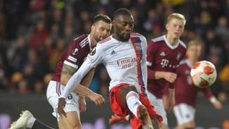 Pertandingan Sparta Praha vs Lyon di Liga Europa 2021/2022.