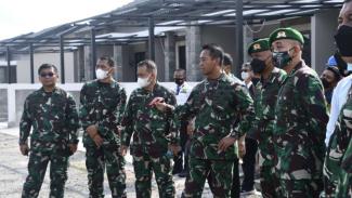 VIVA Militer: KSAD tinjau pembangunan rumah dinas Yonif 511/DY