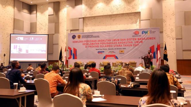 Acara Ditjen Hubdat Kemenhub di Sulawesi Utara.