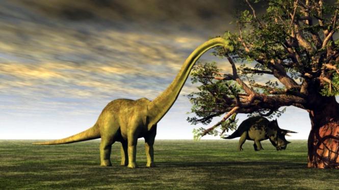 Ilustrasi dinosaurus.