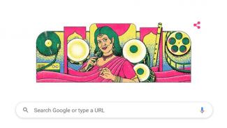 Ellya Khadam di Google Doodle.