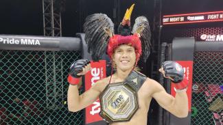 Billy Pasulatan usai mengalahkan Ahmad Sopiyan di Fight Night 51 One Pride MMA