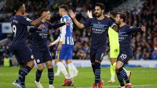 Manchester City rayakan gol