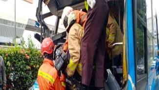 Kecelakaan Bus Transjakarta di Jalan MT Haryono, Jakarta Timur