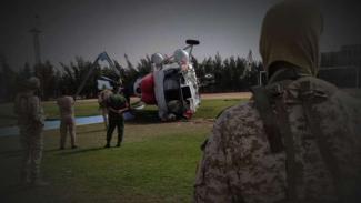 VIVA Militer: Pasukan khusus militer Libya di lokasi helikopter jatuh.