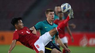 Gelandang Timnas Indonesia U-23, Witan Sulaeman pada laga vs Australia