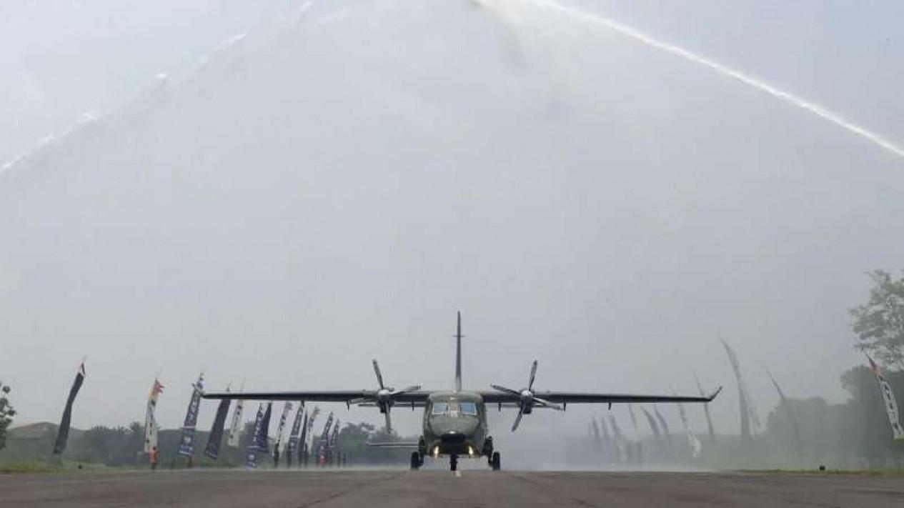 VIVA Militer: Skadron Udara 4 sambut kedatangan Pesawat NC212i-400 buatan PTDI
