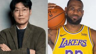 Sutradara Squid Game, Hwang Dong Hyuk dan pebasket LeBron James.