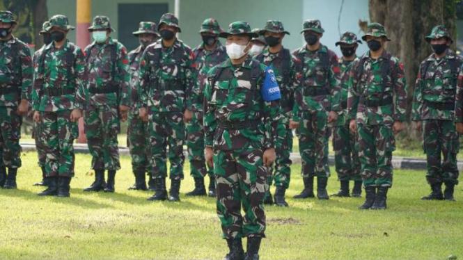 VIVA Militer: Korem 061/SK gelar Apel Latihan Penanggulangan Bencana Alam