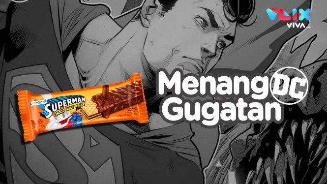 Wafer Superman Indonesia vs DC Comics!