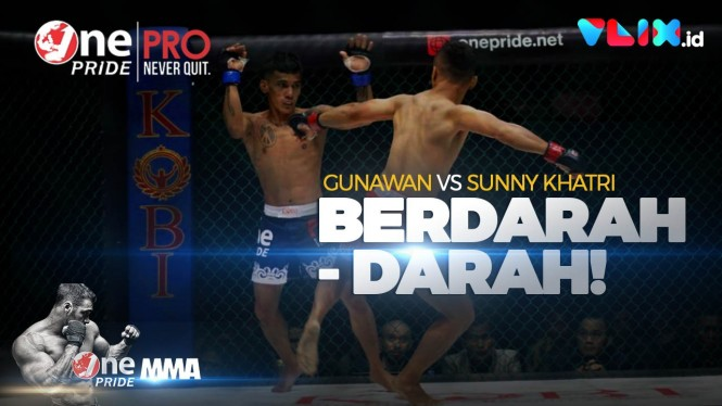 Berdarah-darah! Fight Night Gunawan Vs Petarung Asal India