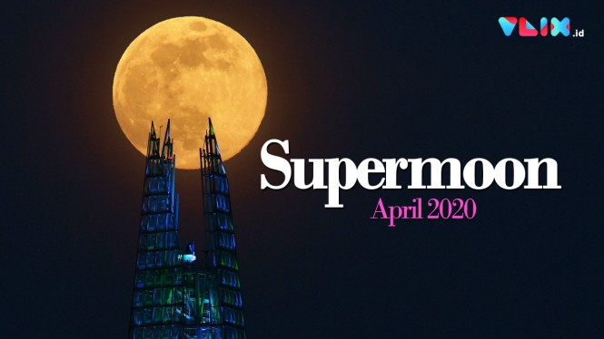 Dihipnotis Penampakan Pink Supermoon April 2020